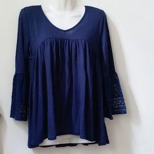 Women Knit Top Size S Long Sleeve Blouse R…
